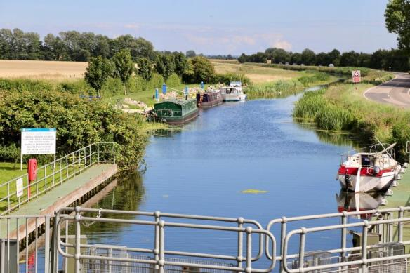 The Old West River, at Earith's Hermitage Lock. Image Cambridgeshire ACRE